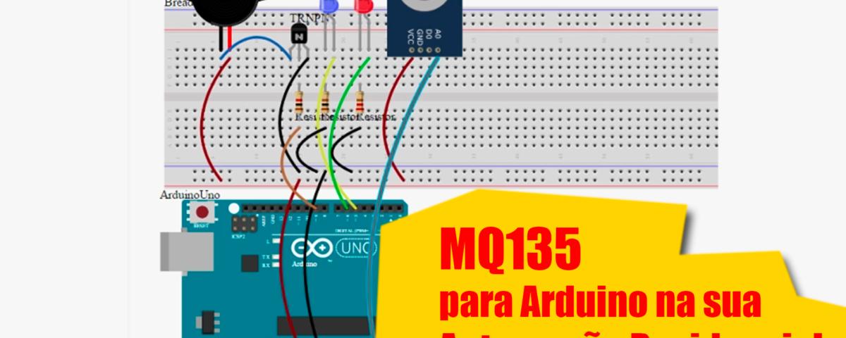 Sensor MQ135 (Qualidade do Ar) para Arduino na sua Automação Residencial