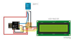digispark com DHT11 e LCD